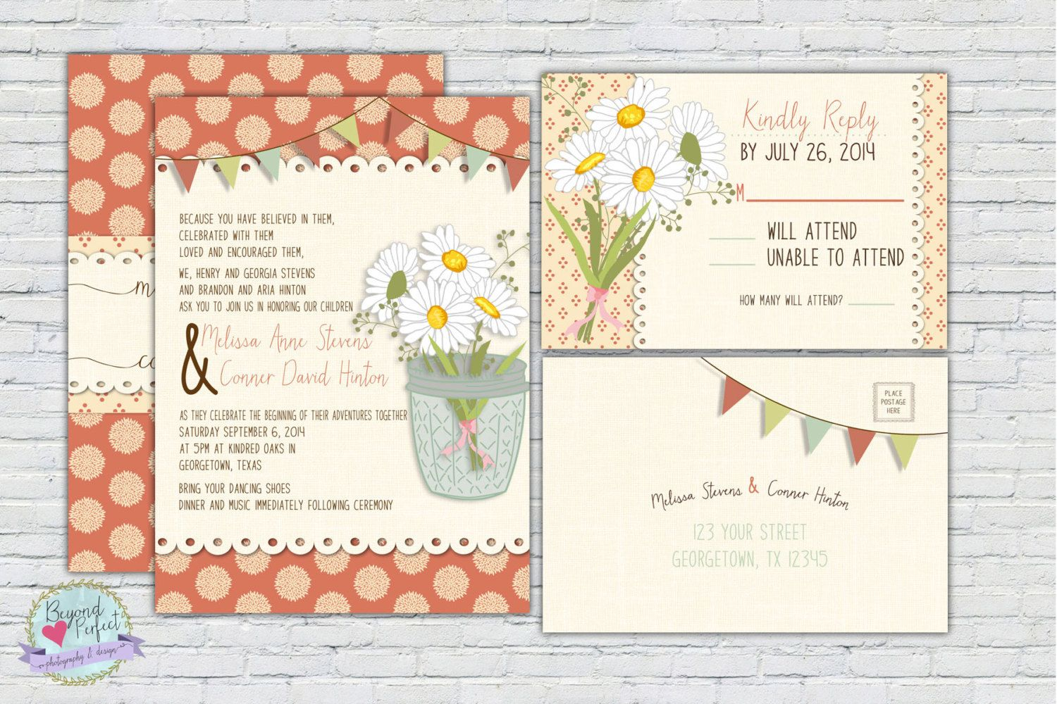 Country Wedding Invitation Rsvp Postcard By Beyondperfectdesigns
