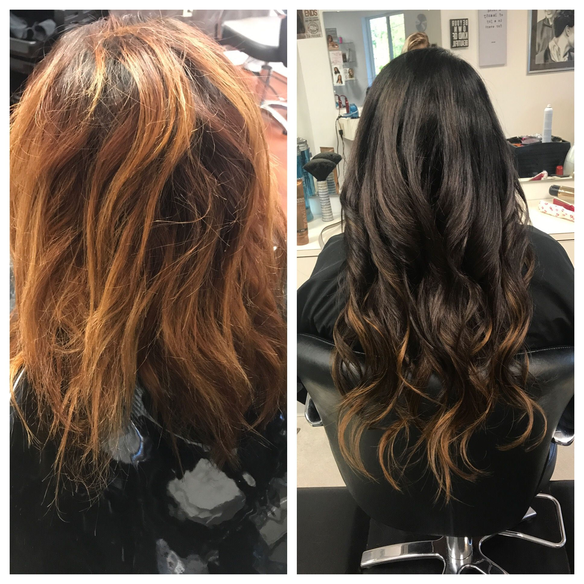 Using Dream Catcher Extensions We Added Length While Coloring A 5ch All Over And 7s At The Ends Colored Hair Extensions Hair Color Shampoo Organic Hair Color