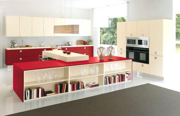 Du Rouge Dans La Cuisine Voici Idées Pour Vous Inspirer Le - Chaises de cuisine rouge pour idees de deco de cuisine