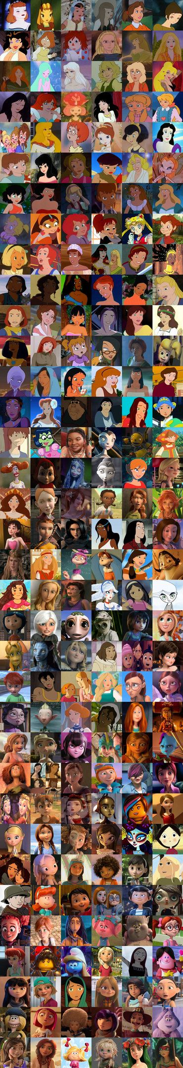 Non Disney Heroines Collage by https://www.deviantart.com ...