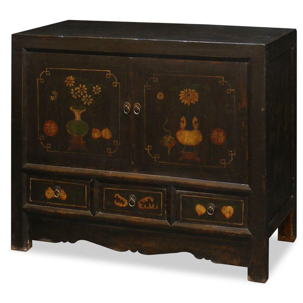 Best Elmwood Mandarin Cabinet Painted Furniture Decorative 400 x 300