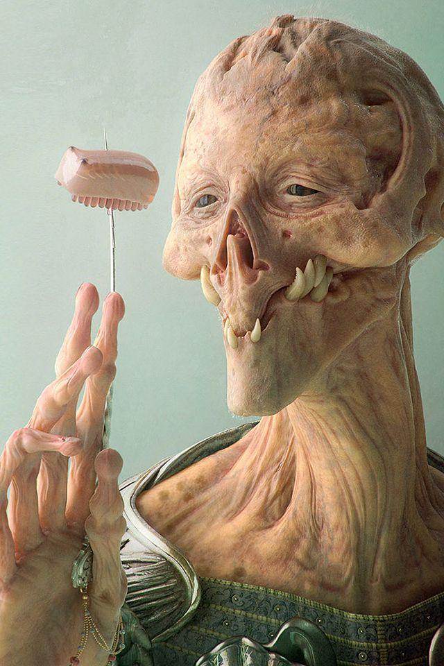 Ugly aliens a matter of scale aliens in 2019 alien - Ugly face wallpaper ...