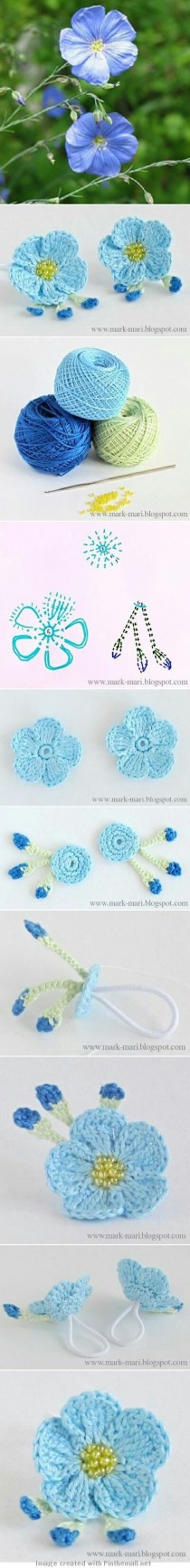 Pin by bahia kaseem on flower pinterest crochet flowers crochet all kinds of pretty flowers with diagrams for hair bands these make pretty flower rings mightylinksfo