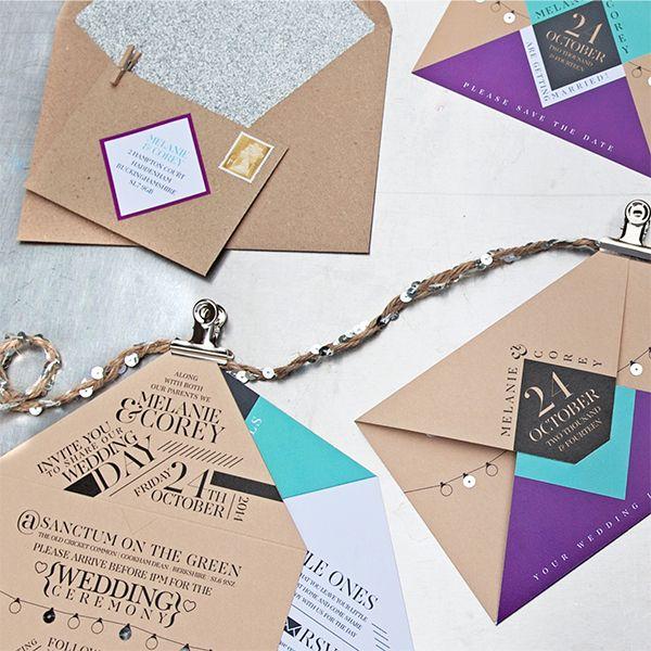 STYLE Urban edgy glam modern ITEMS Save the dates wedding