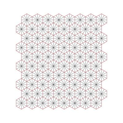 #326 Triagons/Hexangles – Geometry Daily Art Print