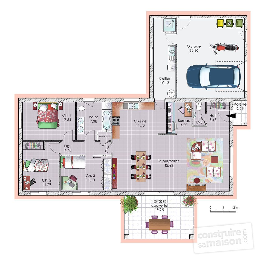 Plan maison complet cool fascinante les plans des maisons for Plan maison complet