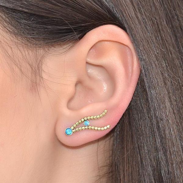 Fashion Silver Ear Cuff Wrap Rhinestone Cartilage Clip Earring Non Piercing  UQ