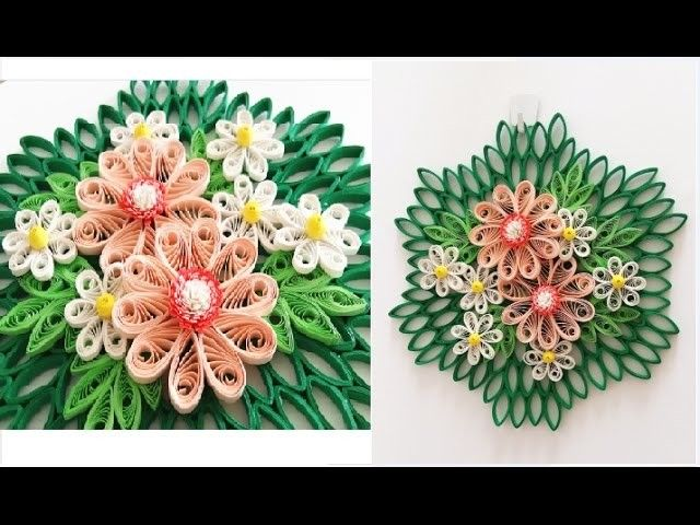 Paper quilling flower for wall hanging decoration 16 diy wall paper quilling flower for wall hanging decoration 16 diy wall decorationper flower art mightylinksfo