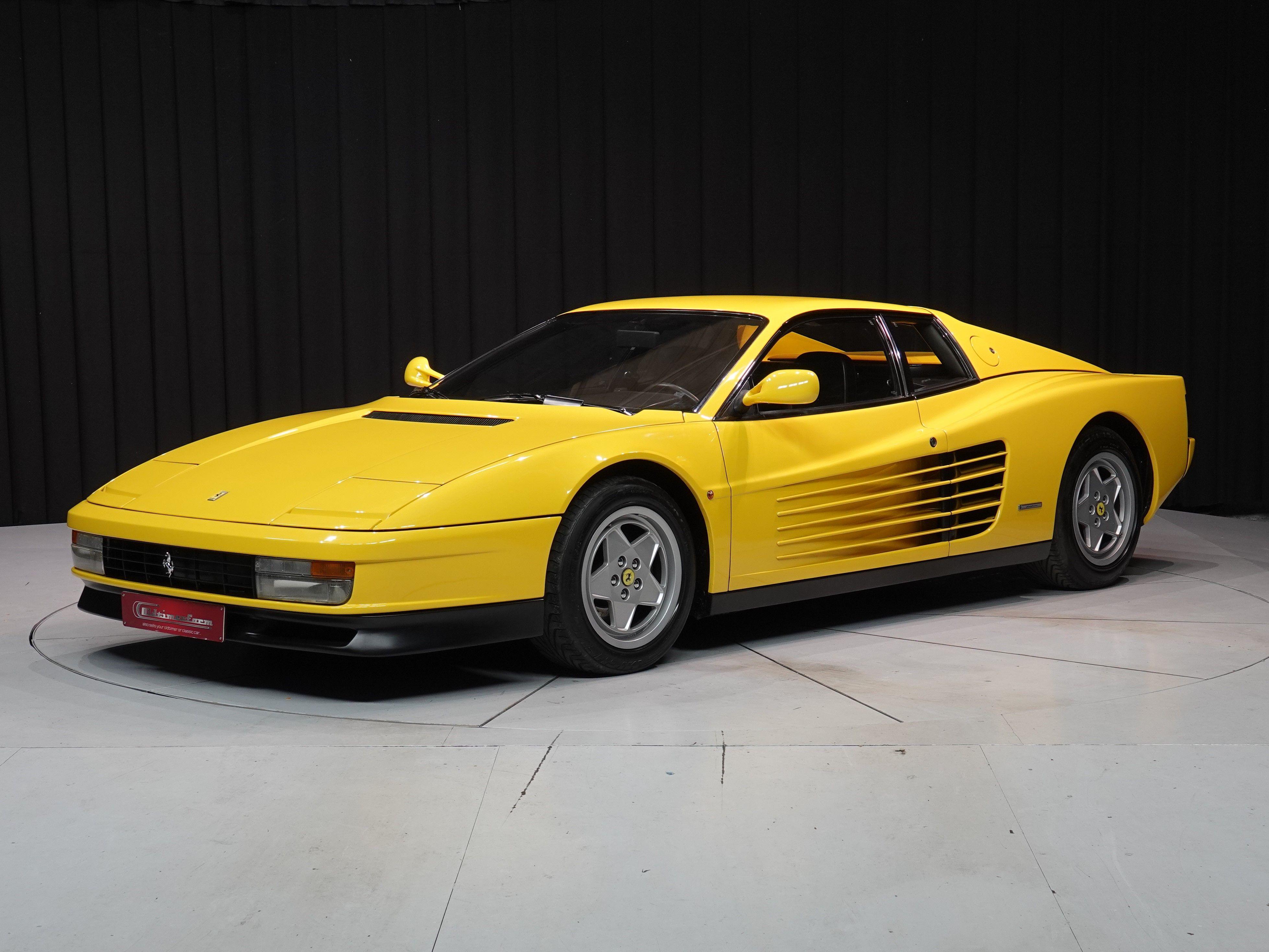 Ferrari Testarossa Yellow 1990 Oldtimerfarm Bv Ferrari Ferrari Testarossa Luxury Cars
