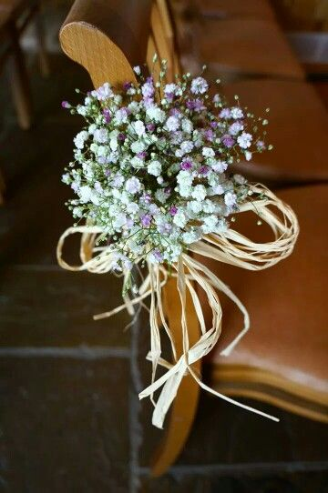Gypsophilia pew ends - by the green room.