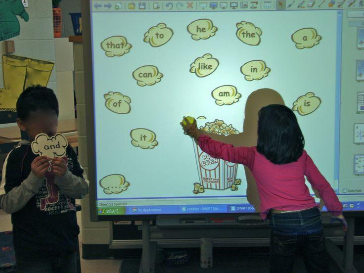 Kindergarten Calendar Interactive Whiteboard : Interactive whiteboard is used easily and flawlessly by