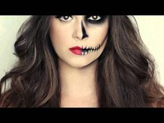 Mitad Catrina Mitad Cara Buscar Con Google Maquillaje De Catrina