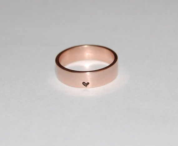 Little little bit of Heart 14kt Rose Gold Ring by Zahour on Etsy