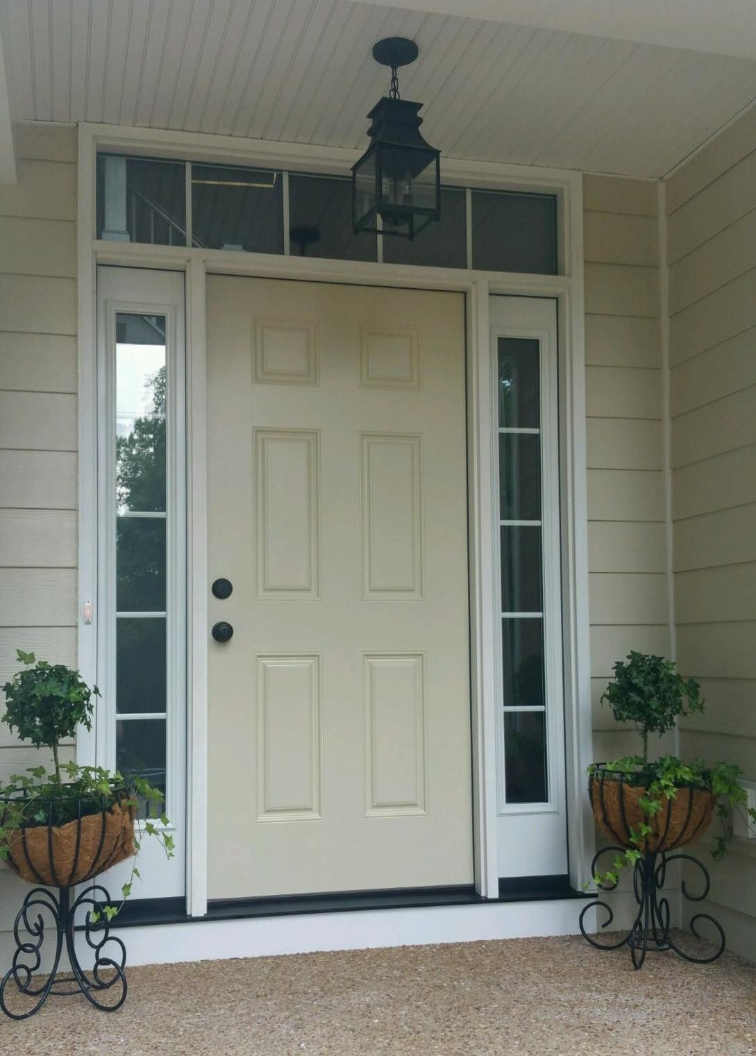 Lovely Front Entry Door with Transom