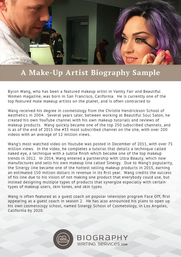 MakeUp Artist Biography Writing Expert Tips and Samples