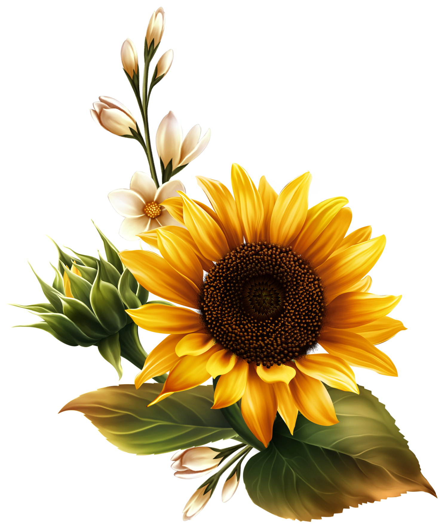 Bright Yellow Sunflower (With images) Flower painting