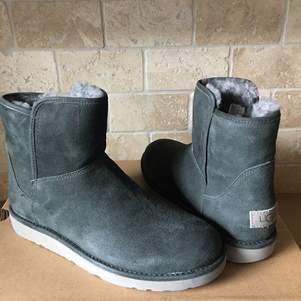 eBay Advertisement) UGG ABREE MINI GRIGIO SUEDE SHEARLING