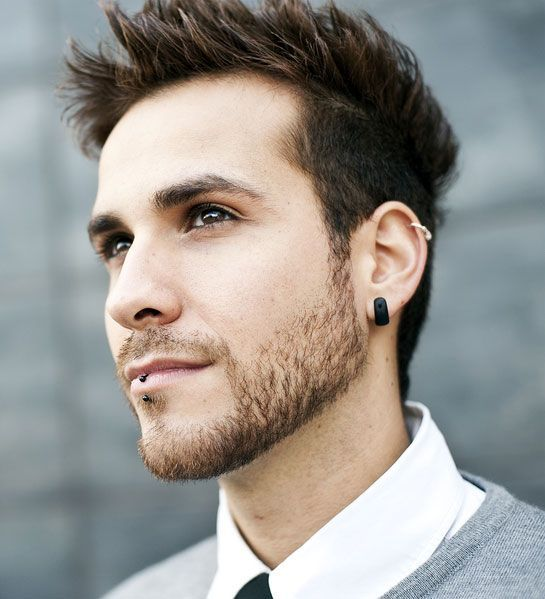 male cartilage piercing