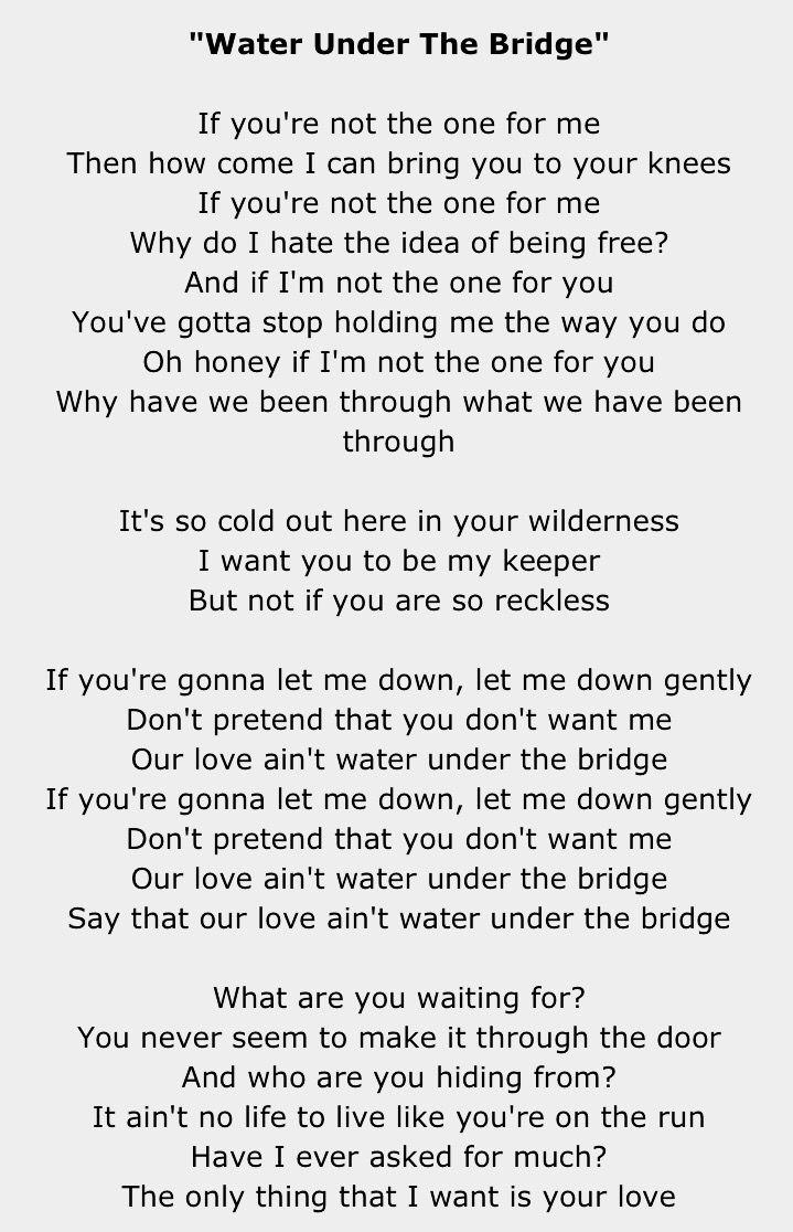 I Don T Wanna Be Your Best Friend Lyrics : wanna, friend, lyrics, Water, Under, Bridge, Adele, Songs,, Lyrics,, Yourself, Lyrics