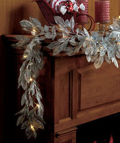Lighted Christmas Garland For Mantle