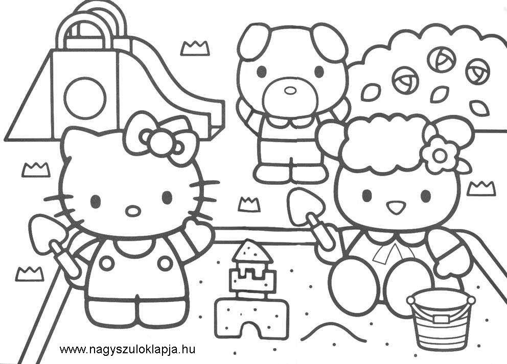 Kifestők, nyomtatható színezők kislányoknak: 10 aranyos Hello Kitty ...