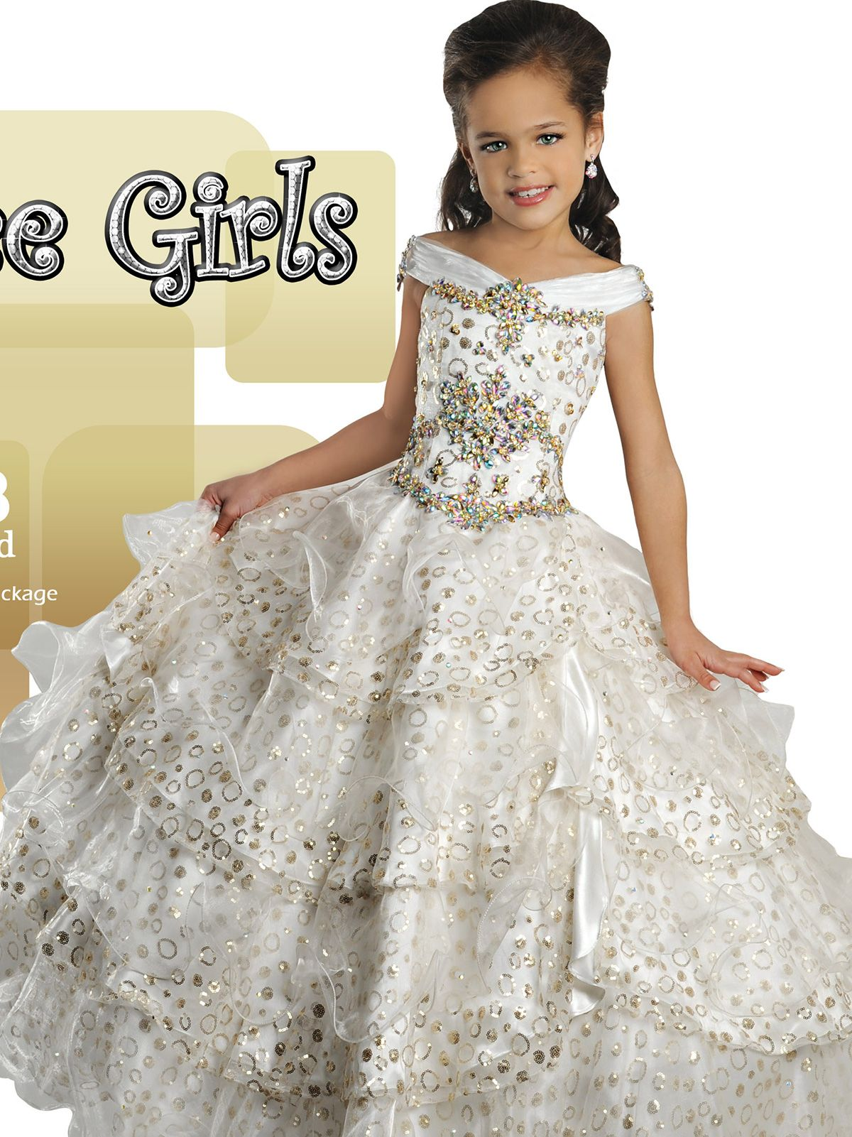 A junior size pageant dress like no other, the Ritzee Girls 6
