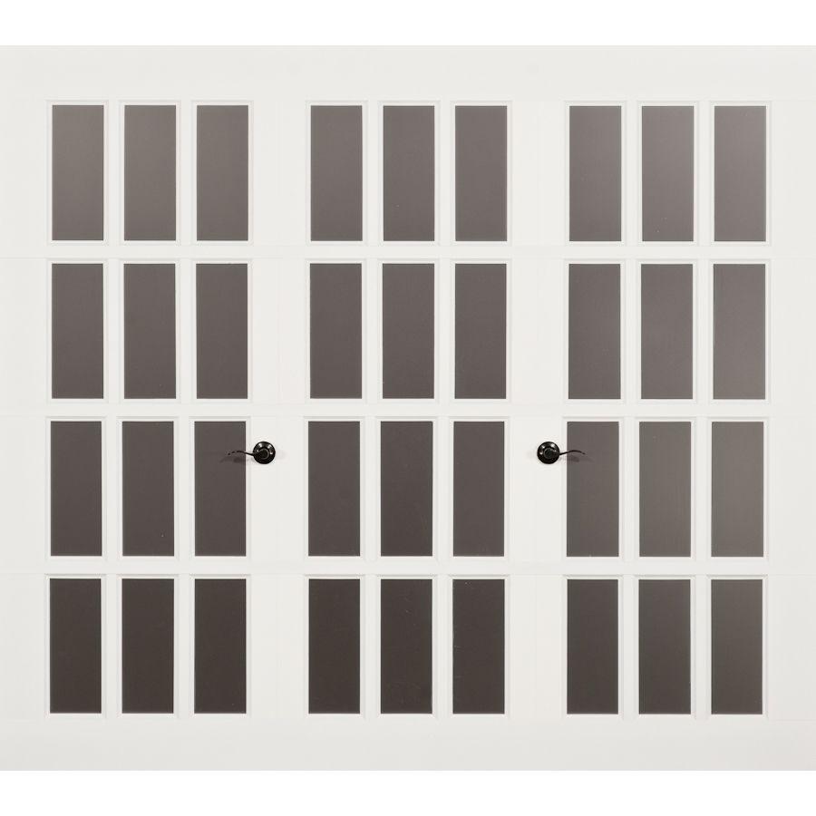 Garage door windows that open  Lowes FrenchPorte ft x ft Madeleine Series Garage Door with