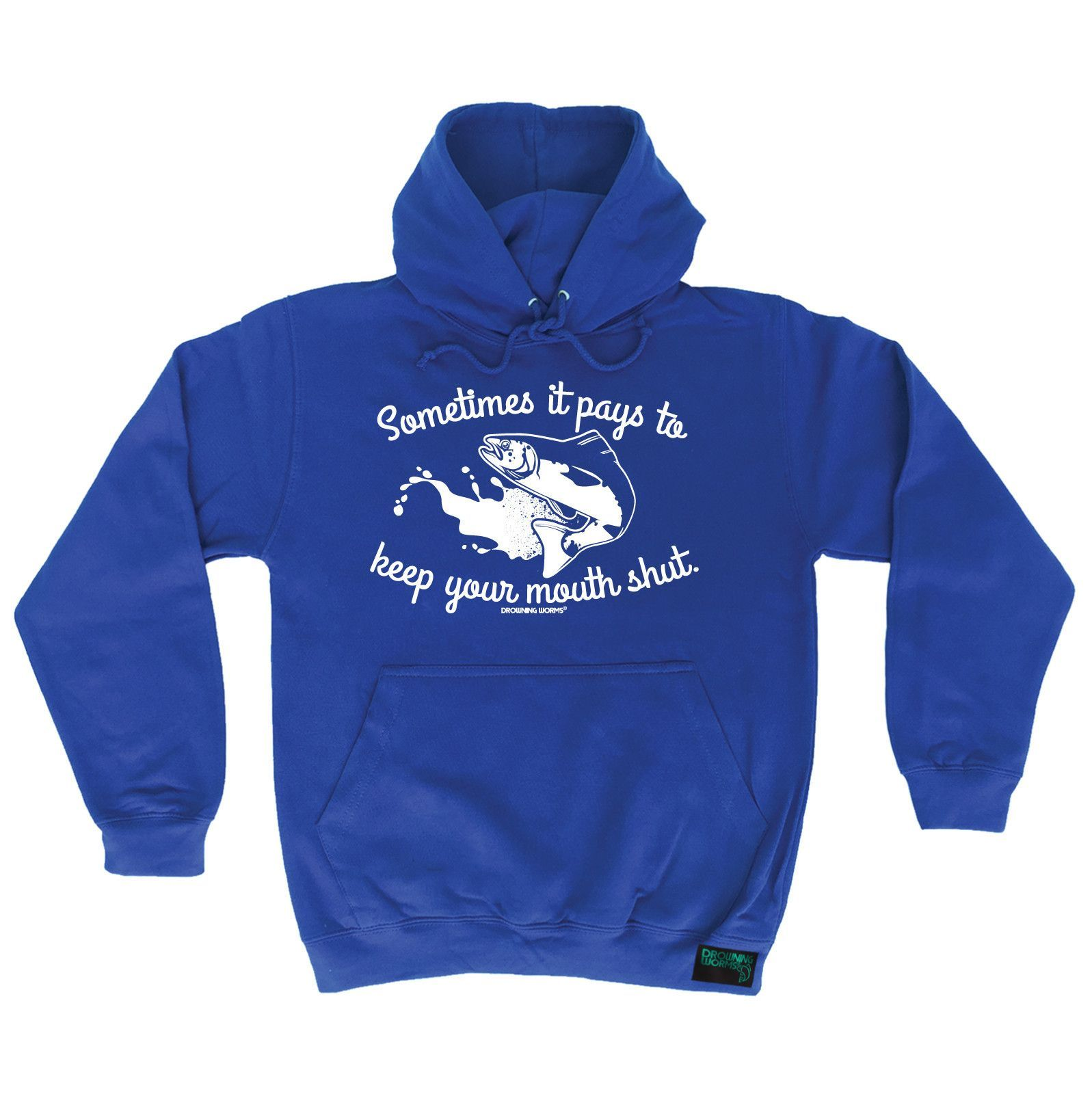 Drowning Worms Sometimes It Pays To Keep Your Mouth Shut Fishing Rockpaperscissorslizardspock Geek Pinterest Hoodie