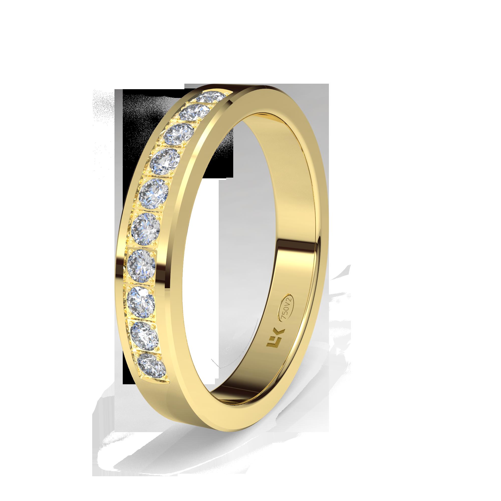 c7892d8d5825 PAOGI - Alianzas Cinta con Centro Ancho y Diamantes en Oro Amarillo ...