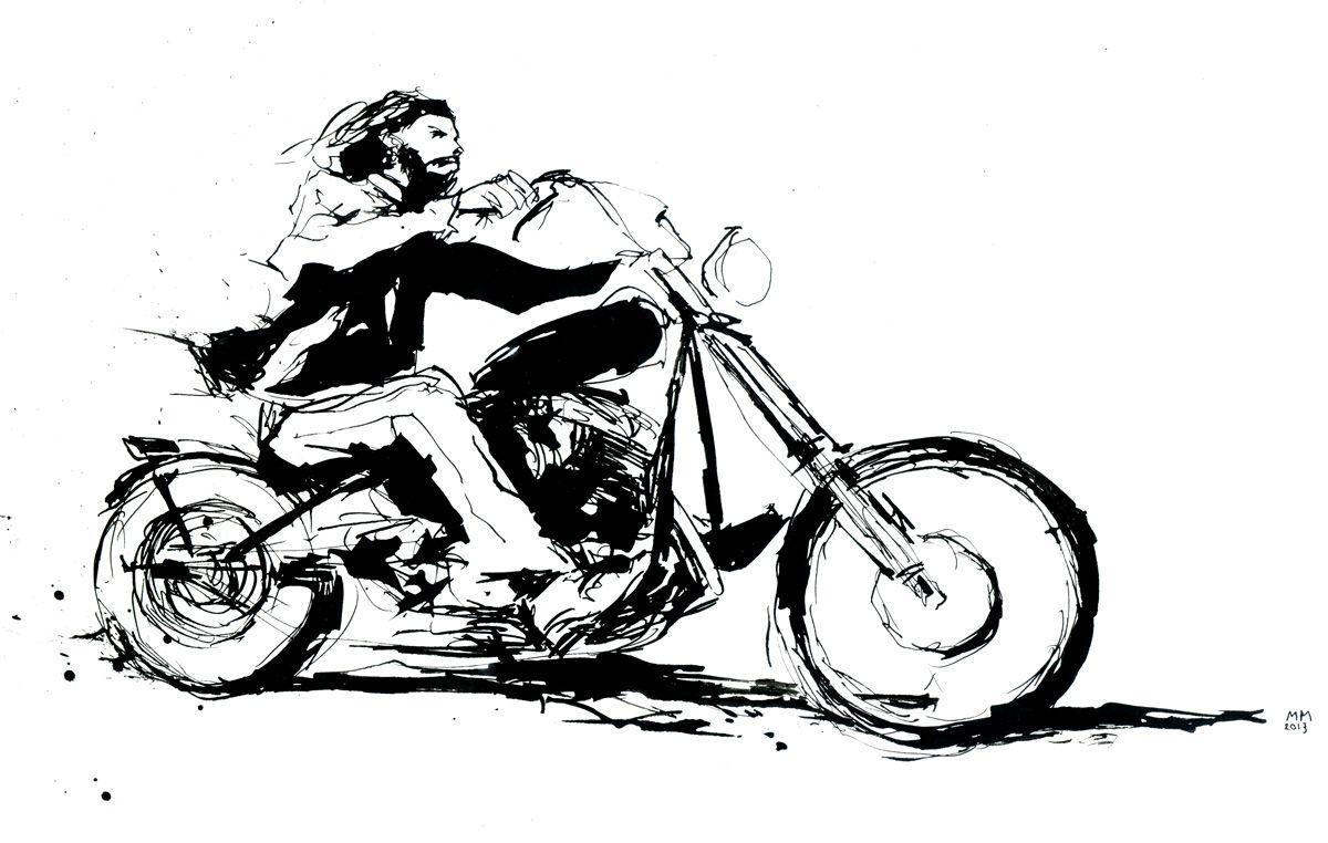рисунки карандашом черно белые мотоцикла подборка