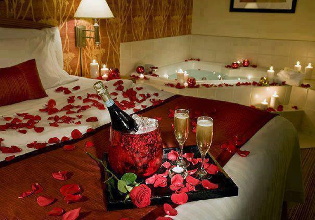 Decorate this valentine 39 s day with rose petals from www - Romantic decorations for hotel rooms ...