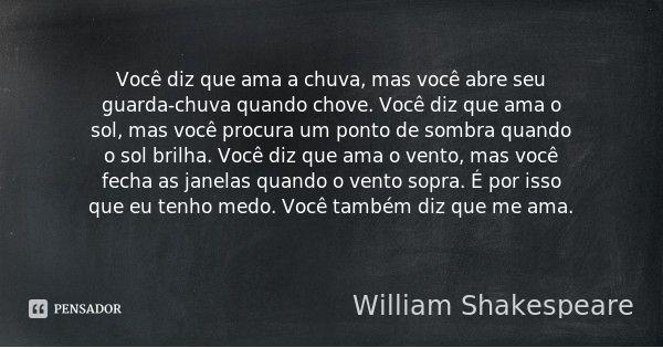 William Shakespeare Frase Chuva Mensagens Diversas E Frases