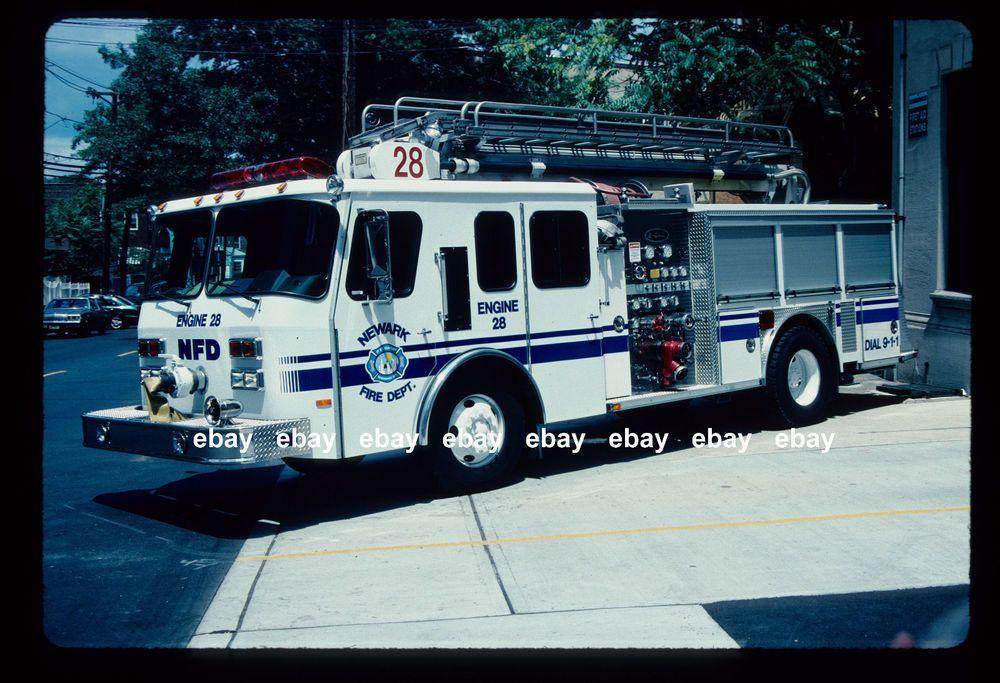 Newark NJ E28 1989/2000 Emergency One 50' teleboom Fire