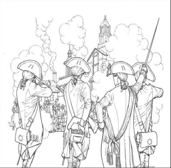 revolutionary war coloring pages for kids - American Revolution Coloring Pages