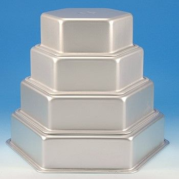 Cake pan set   hexagon | Wedding plans | Cake pans, Hexagon