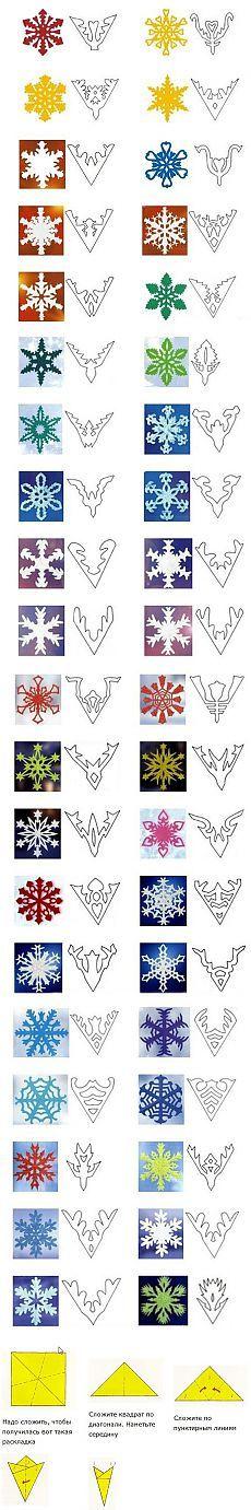 Новогоднее | Paper snowflake template, Paper snowflakes and ...