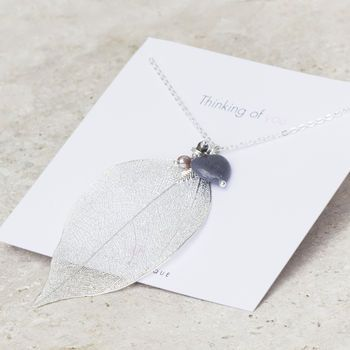 Abelle Thinking Of You Gift Card Personalised Necklace