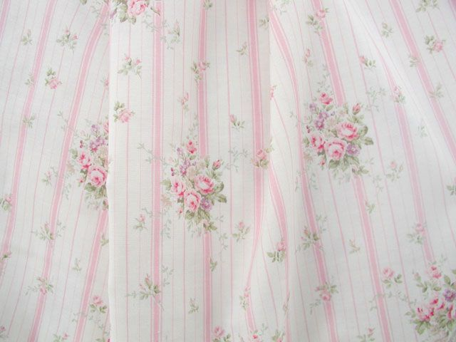 Rose Stripe Pink Fabric