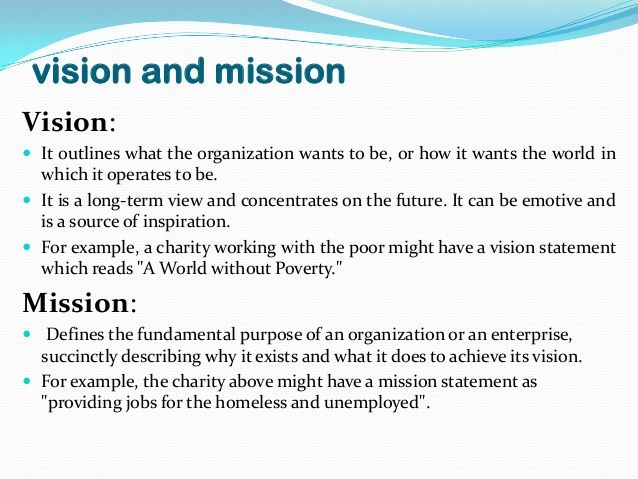 Image result for vision and mission of company sample m Vision