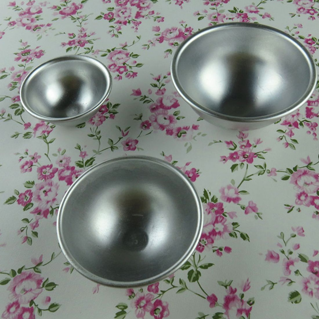 Hot Sale Metal Aluminum Alloy Bath Bomb Mold 3D Ball Sphere Shape ...