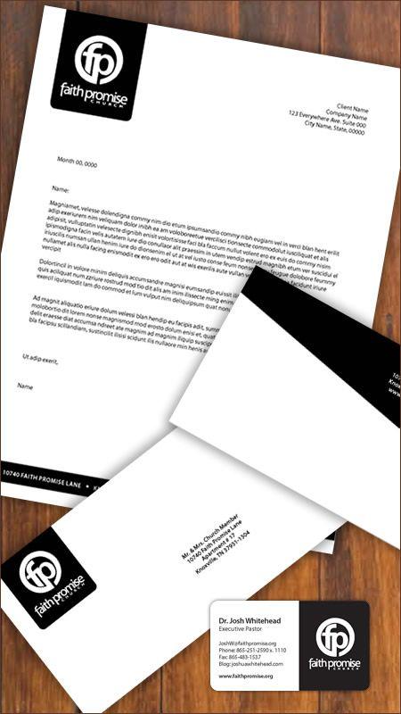 Kylegilbert Church Branding Faith Promise Church Letterhead Design Letterhead Business Church Branding