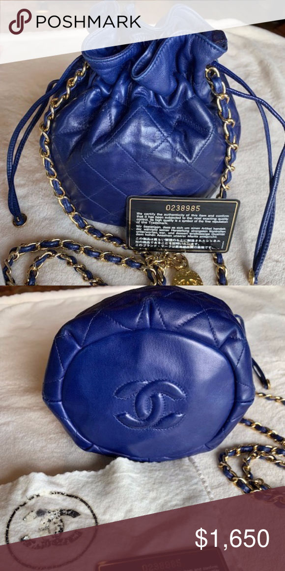 Chanel Mini Drawstring Bucket Bag Quilted Lambskin Chanel Mini Drawstring Bucket Bag Chanel Bag