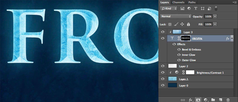 Tutorial disneys frozen text effect in photoshop photo art work tutorial disneys frozen text effect in photoshop photo baditri Images