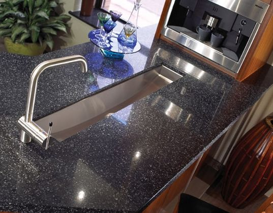 Another Flint Black Cambria counter top. Hanstone Bavaria Quartz Countertop  Classic Marble   Stone