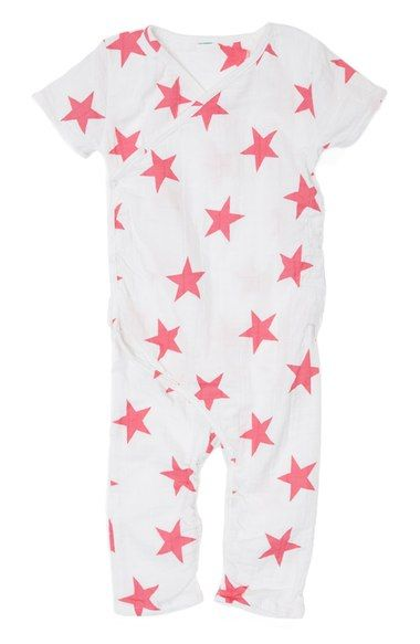 Free shipping and returns on aden + anais Short Sleeve Kimono Romper (Baby) at Nordstrom.com. Made from the same breathable cotton muslin as the brand's famous swaddles and given a hint of stretch, this kimono one-piece feels light and natural against delicate skin. The supersoft styleis enhanced with snaps at the wrap, so getting baby dressed is a breeze.