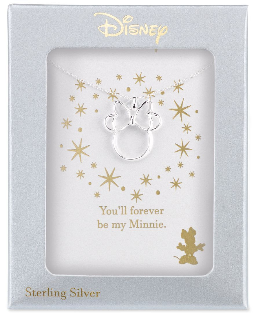 Disney Minnie Mouse Pendant Necklace in Sterling Silver