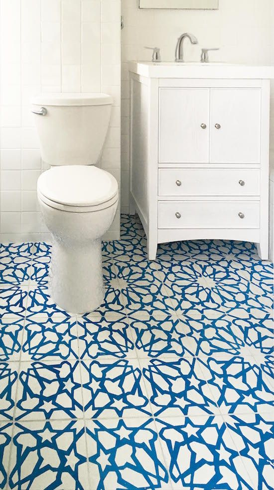 Cement Tile Adds Pattern Color To Traditional Bath Tile Bathroom Traditional Bathroom Decor Traditional Bathroom