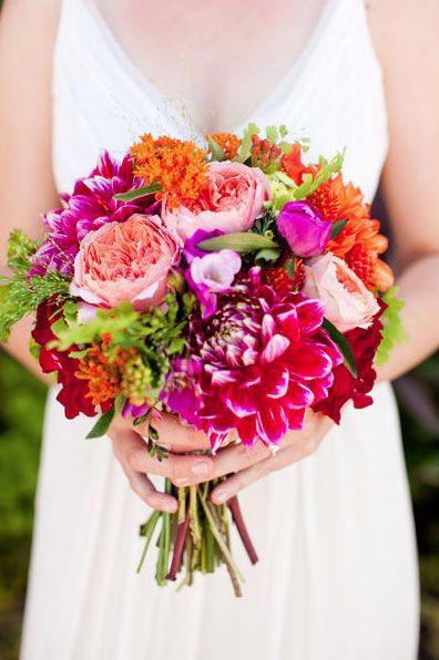 Brautstrauss bunt  Brautstrauss  Blumendeko hochzeit
