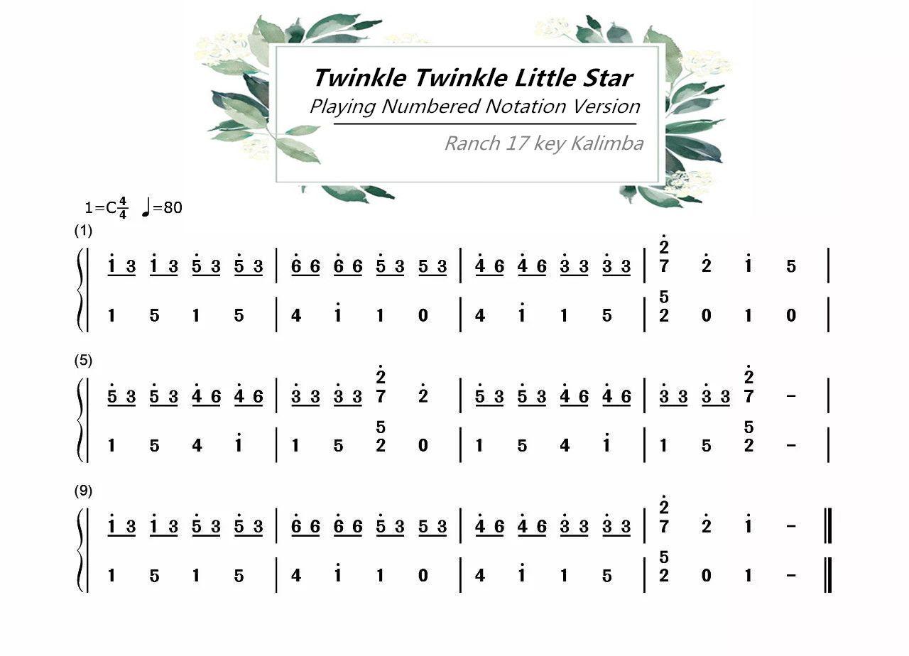 Ranch Beginners 17 Key Kalimba Lesson 3 Twinkle Twinkle Little