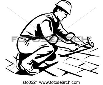 Logo With Sketch Person Construction Google Search Roof Problems Roof Repair Roofing